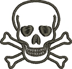 Skull and Crossbones embroidery design