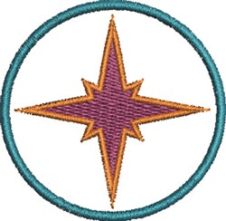 Star In Circle embroidery design