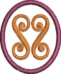 Swirl Circle embroidery design