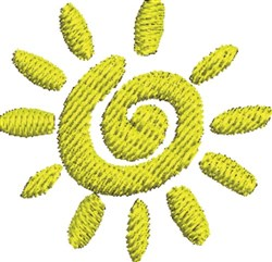 Abstract Sun embroidery design