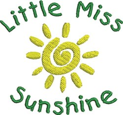 Miss Sunshine embroidery design
