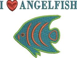 Love Angelfish embroidery design
