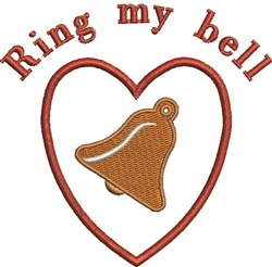Love Bell embroidery design