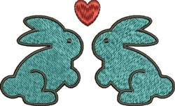 Love Bunnies embroidery design