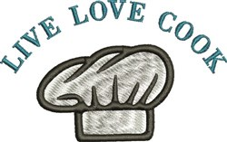 Live Love Cook embroidery design