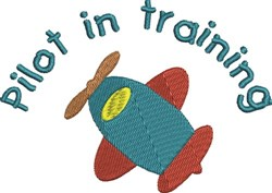 Pilot In Training embroidery design