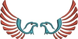 Two Eagles embroidery design