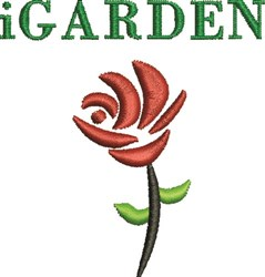 I Garden embroidery design