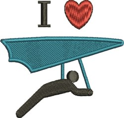 Love Hang Glide embroidery design