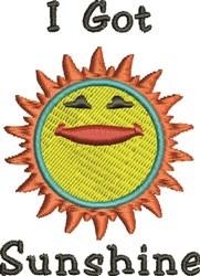 Got Sunshine embroidery design