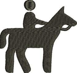 Horseback Rider embroidery design