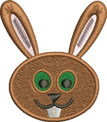 Rabbit Face embroidery design