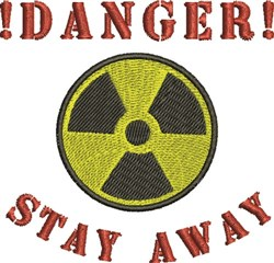 Stay Away embroidery design