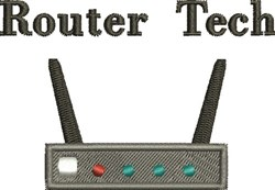 Router Tech embroidery design