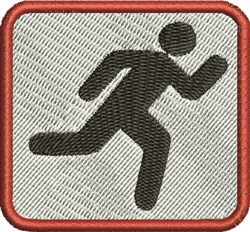 Runner Sign embroidery design