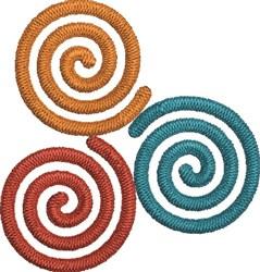 Three Spirals embroidery design