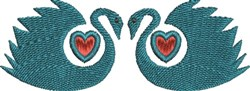 Love Swans embroidery design