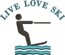 Live Love Ski embroidery design