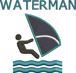 Waterman embroidery design