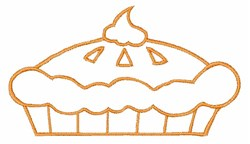 Pie Outline embroidery design
