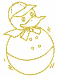 Rolly Duck embroidery design