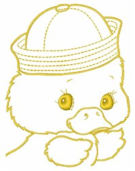 Ducky Outline embroidery design
