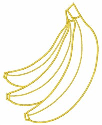 Banana Bunch embroidery design