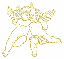Cupids Outline embroidery design