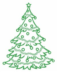 Decorated Tree embroidery design