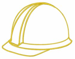 Helmet Outline embroidery design