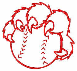 Baseball & Claws embroidery design