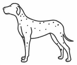 Dalmation Outline embroidery design