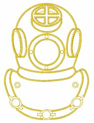 Diving Helmet embroidery design