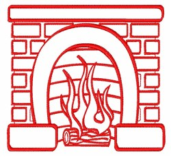 Fireplace Outline embroidery design