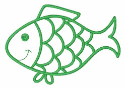 Outline Fish embroidery design