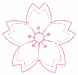 Bloom Outline embroidery design