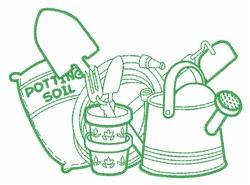 Gardening Supplies embroidery design