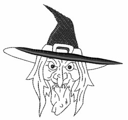 Old Witch embroidery design