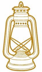 Lantern Outline embroidery design