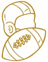 Football Gear embroidery design