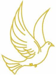 Dove Outline embroidery design