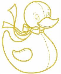 Rubber Duck embroidery design
