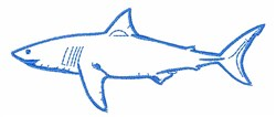 Great White embroidery design