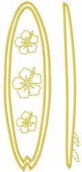 Floral Surfboard embroidery design