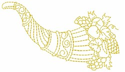 Cornucopia Outline embroidery design