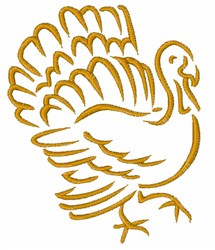 Turkey Outline embroidery design