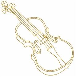 Violin Outline embroidery design