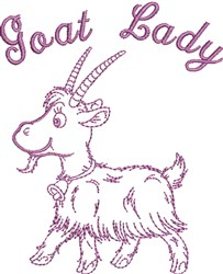 Goat Lady embroidery design