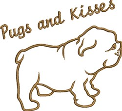 Pugs And Kisses embroidery design