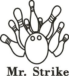 Mr Strike embroidery design